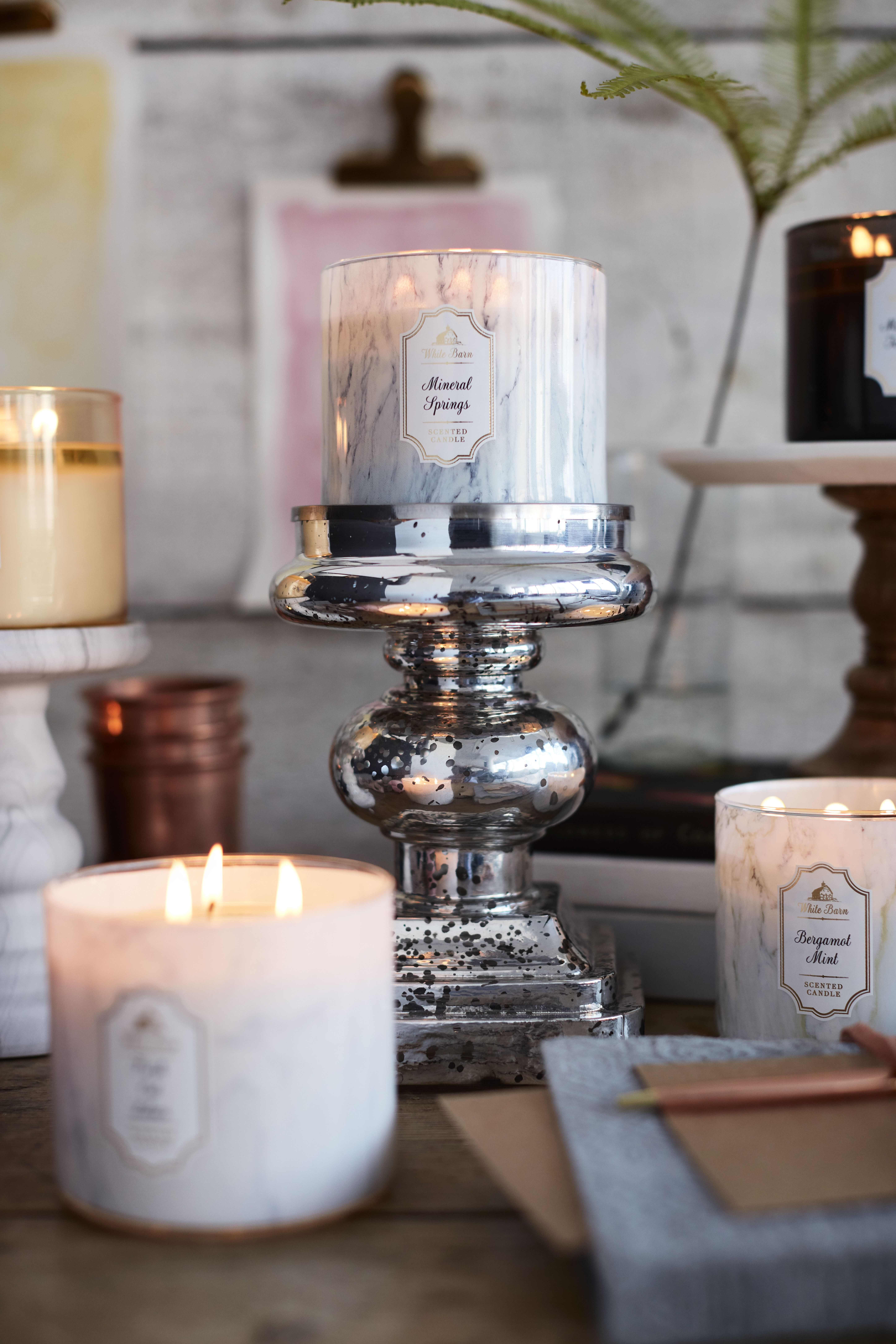Marble-inspired Candles decor | Home candles, Oil candles ...