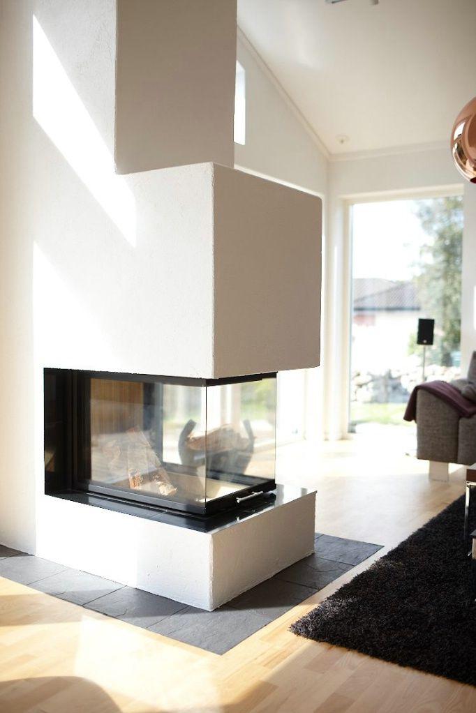 Pin von M s auf Wohnzimmer Pinterest Wohnzimmer, Ofen und Hausbau - offene kuche wohnzimmer grundriss
