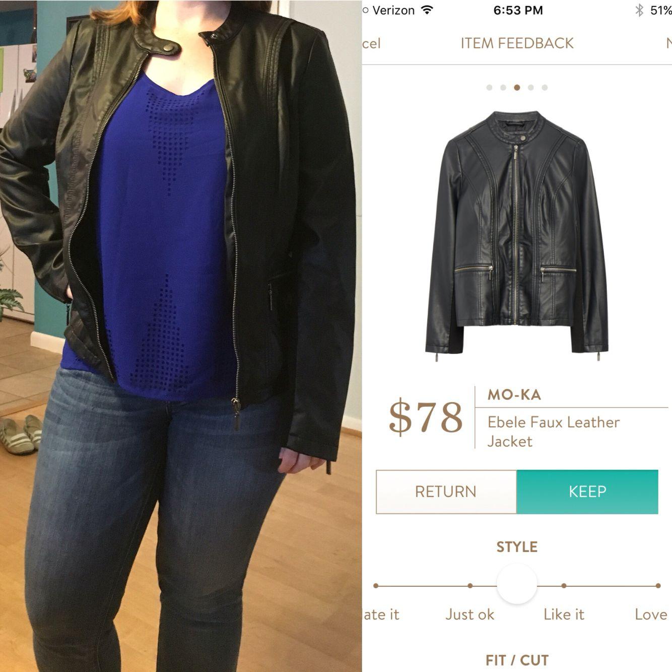 92c47be5043 Mo-ka ebele faux leather jacket #stichfix | FB Stitch Fix Group ...