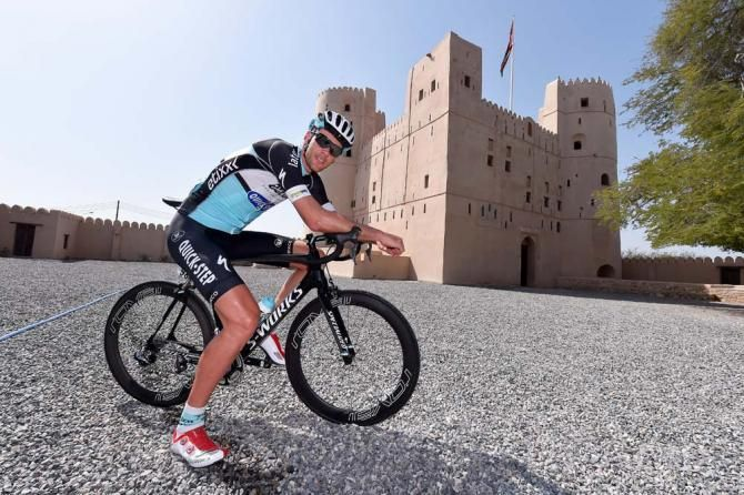 Tour of Oman 2015 The riders check out the castle before the start Photo credit © tdwsport