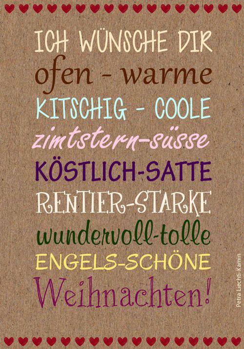 ich wünsche Dir kitschig-coole Weihnachten! | Weihnachten und ...