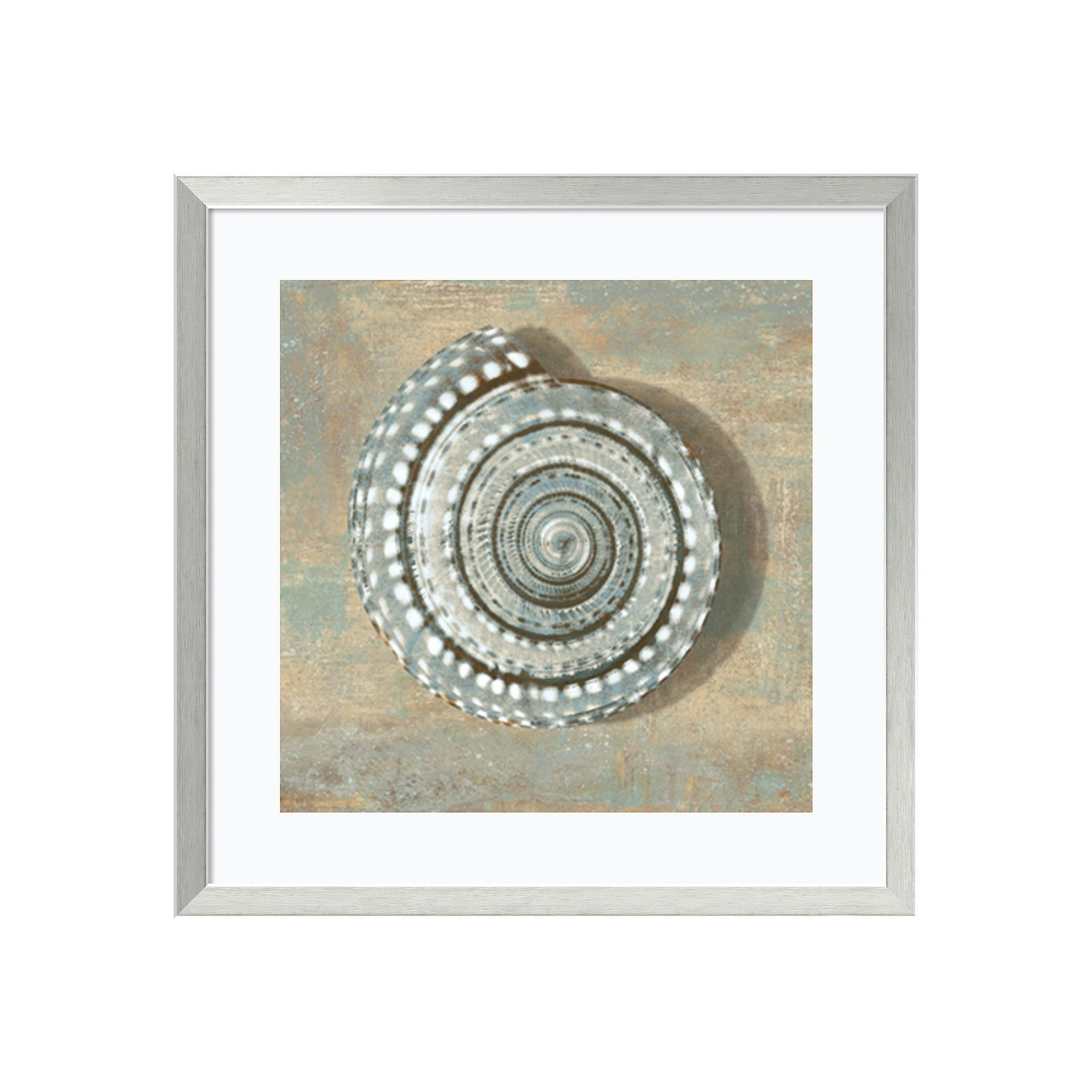 ''Seashell'' Framed Wall Art, Silver