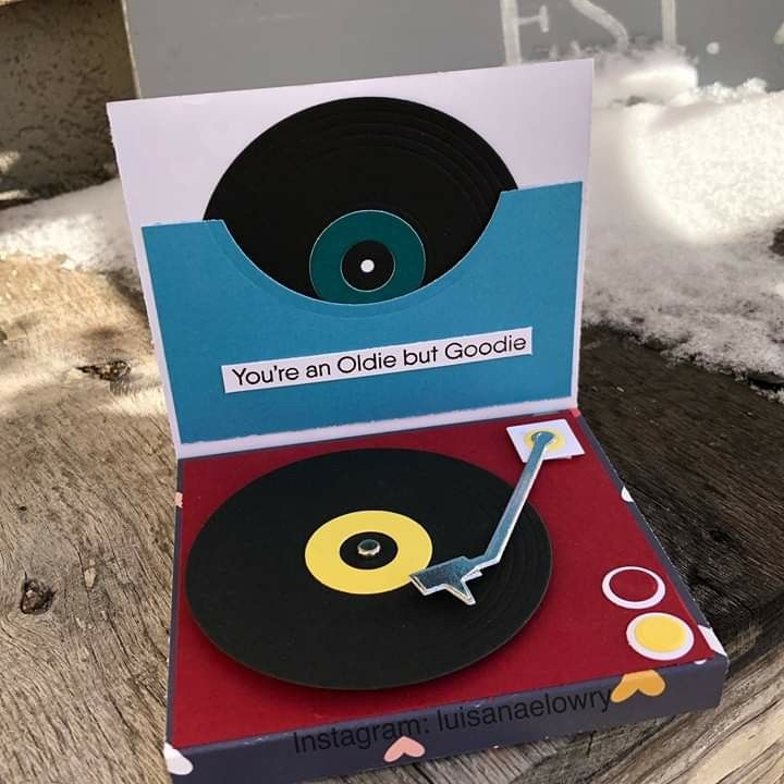 Card Music Lp Vinyl Record Player Mft For The Record Die Namics Mft Turntable Die Namics Mftstamps Mf Musical Cards Record Player Card Cricut Birthday Cards