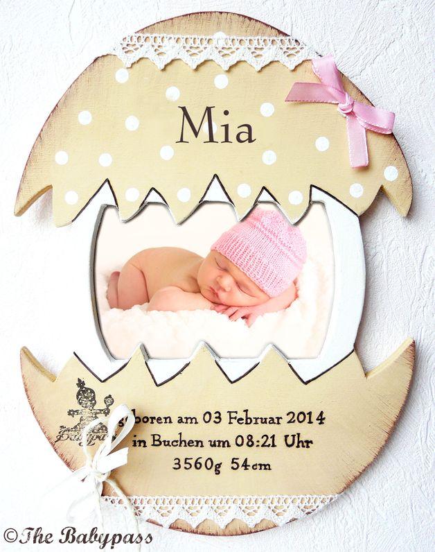 babypass osterk ken babygeschenk zur geburt taufe geburtstafel f r baby zu ostern auf. Black Bedroom Furniture Sets. Home Design Ideas