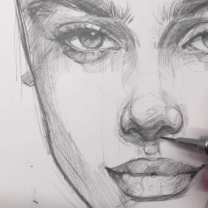 Pencil art : great proportions and sketching technique - This is so inspiring! #peachideas