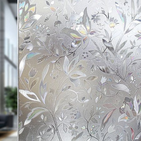 UMI 90 x 400cm 3D Privacy Window Frosted Film Bamboo Cling Pattern Films No Glue Self Adhesive Windows Stickers for Home Office Store Decoration