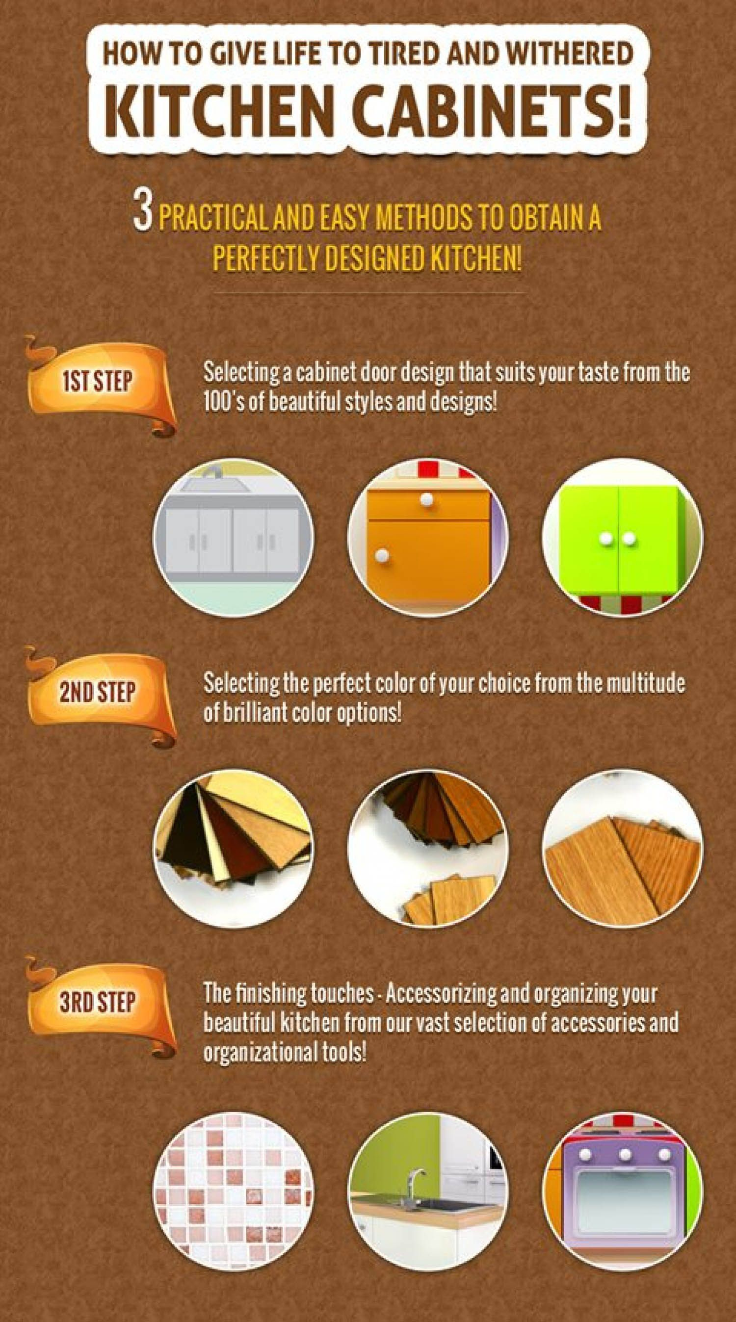 How To Give Life To Tired And Withered Kitchen Cabinets Infographic .