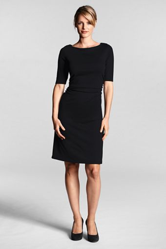 I love the style on this one, but it might not work on my figure.  Neckline and sleeves are right though.  Very Audrey Hepburn.