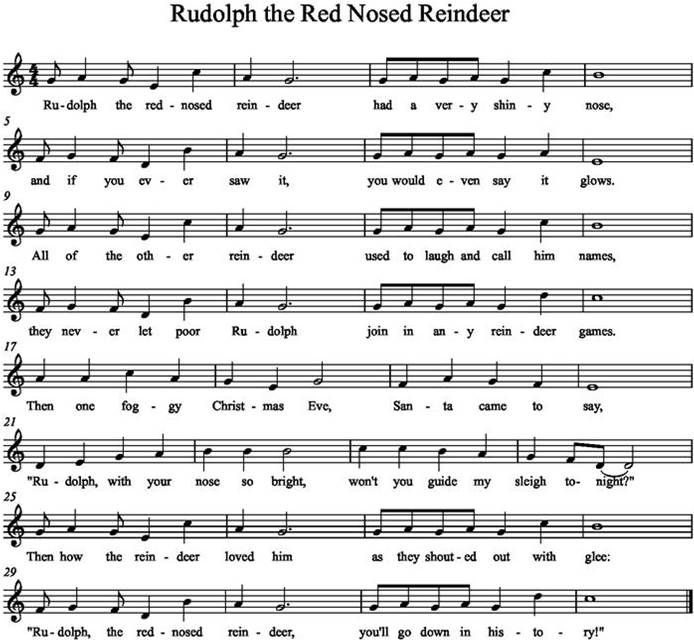 Image Result For Rudolph The Red Nosed Reindeer Flute Music