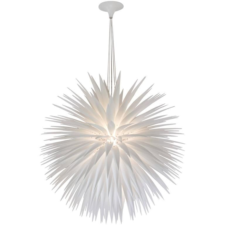 Jeremy Cole White Flax Pendant | From a unique collection of antique and modern chandeliers and pendants at https://www.1stdibs.com/furniture/lighting/chandeliers-pendant-lights/