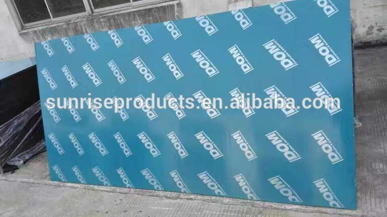 18mm Plastic Veneer Film Faced Plywood For Construction Easy To Clean Veneers Face Plywood
