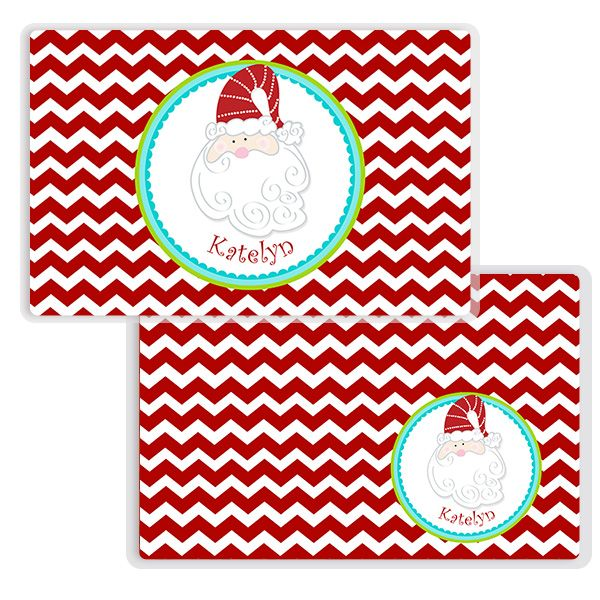 Monster Placemat Christmas Kids Personalized Placemat Christmas Kids Laminated Placemat Personalized Kids Placemat Placemats Kids Personalised Kids Personalized Christmas