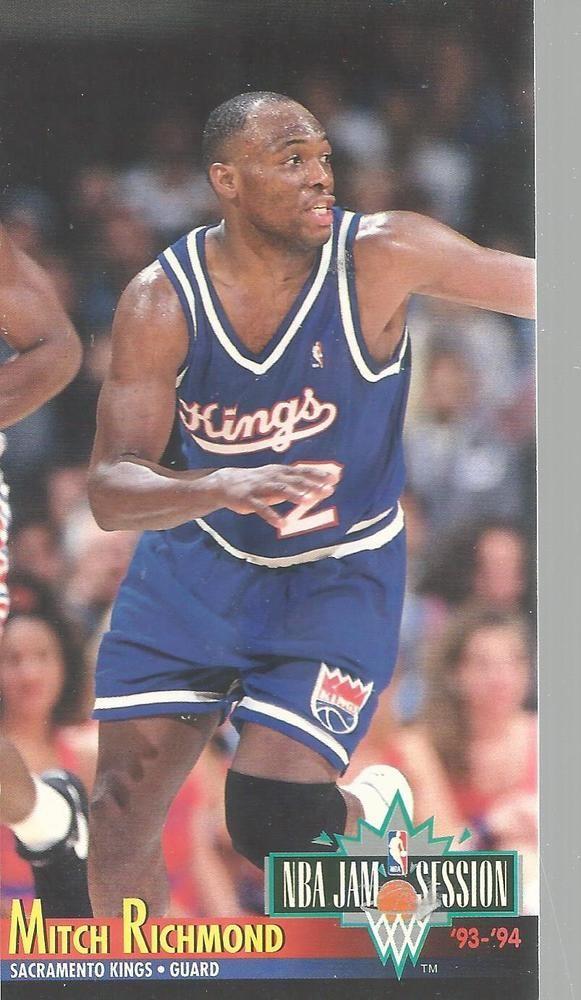 6c7d19b6c95 1993-94 Fleer Jam Session Mitch Richmond 196 Sacramento Kings Basketball  Card  Fleer  SacramentoKings