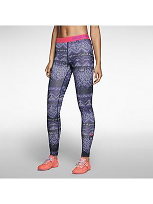 $60 Nike Pro Hyperwarm Nordic Women's Training Tights in Obsidian/Hyper Punch