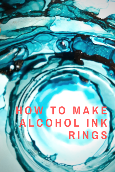 How to Create Alcohol Ink Rings For Gorgeous Pieces of Art -