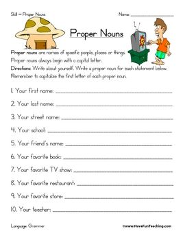 Printables Proper Noun Worksheets For 2nd Grade 1000 images about 2nd grade kindness on pinterest common cores nouns and verbs cut paste