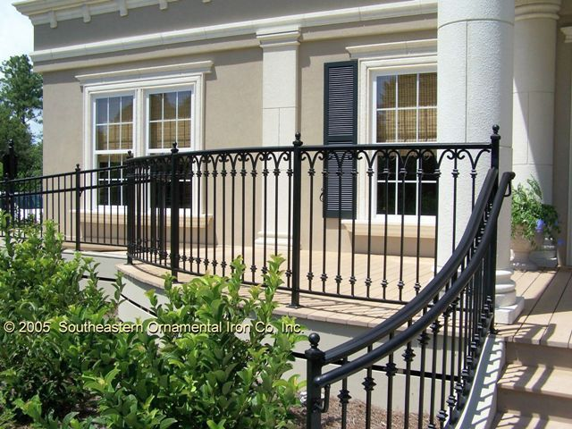 I Think Something With Just A Little Ornament Not So | Wrought Iron Handrails Near Me