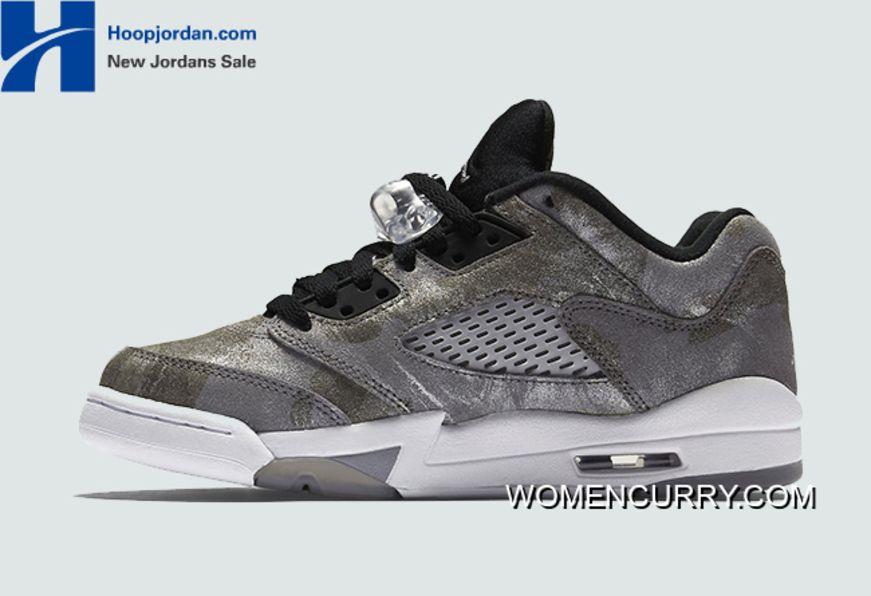 """All Star"""" Air Jordan 5 Low GS Cool Grey Wolf Grey-White-Black Online ... ac6def9ebaf0"""