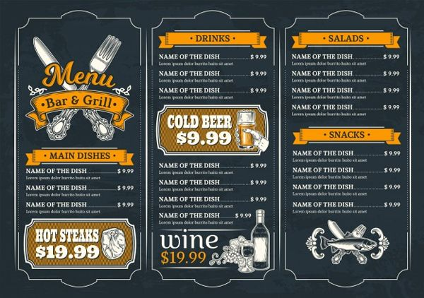 31 Printable Menu Designs Free Psd Pdf Format Download Menu Restaurant Menu Design Menu Design Template