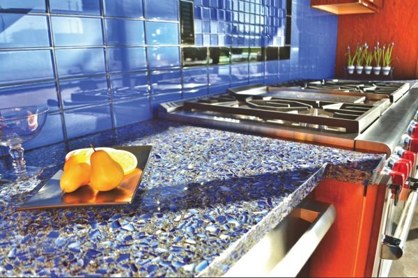 What to Consider When Buying Recycled Glass Countertops Pinterest