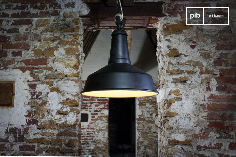 Plafoniere Stile Industriale : Lampada a sospensione black factory ufficio design arredamento