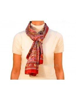 Pañuelo para cuello multiusos confeccionado en autèntica seda india.  Medidas  172 x 51 cm. - La Taza Solidaria ebc32d1b2f1