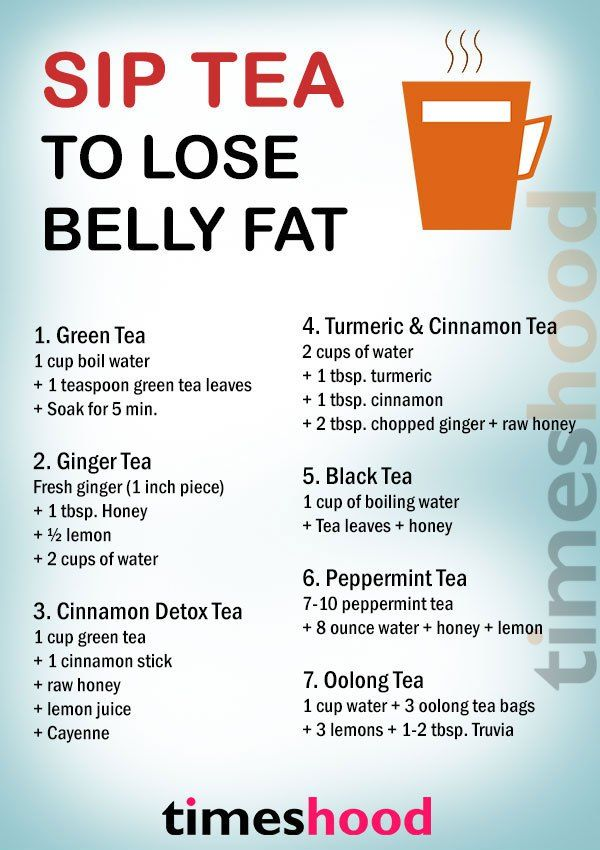 what kind of tea helps burn belly fat