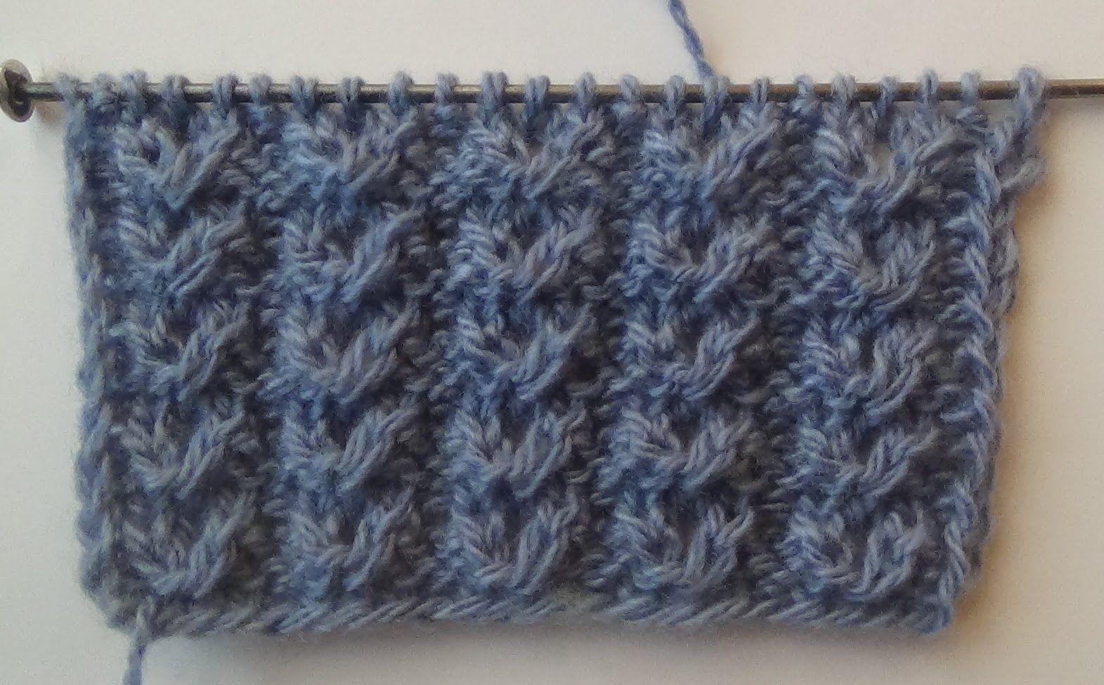схема вязания рисунка бантик
