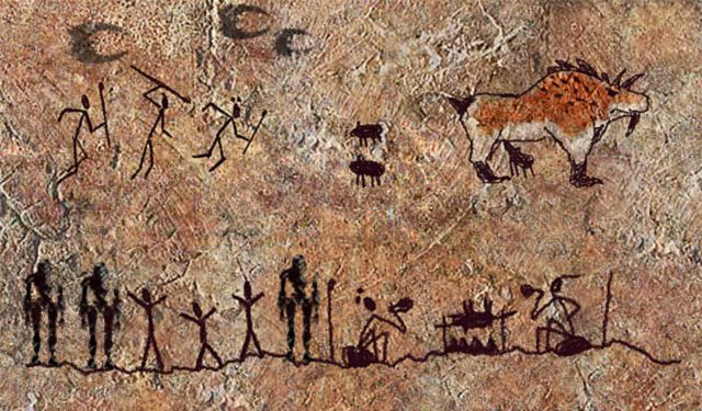 Mini Man Cave Painting : Cave paintings cavemen drawings are often referred to as