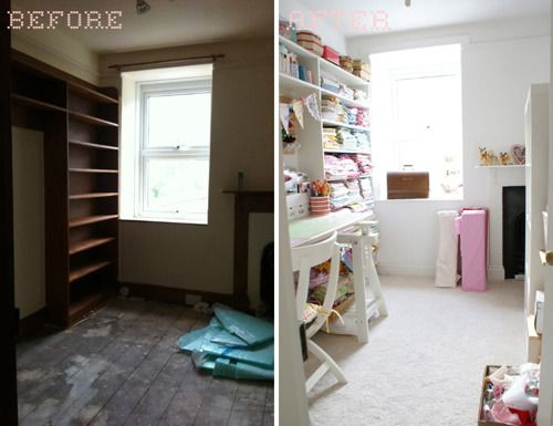 Roundup: 10 Amazing Craft Room Makeovers #craftroommakeovers