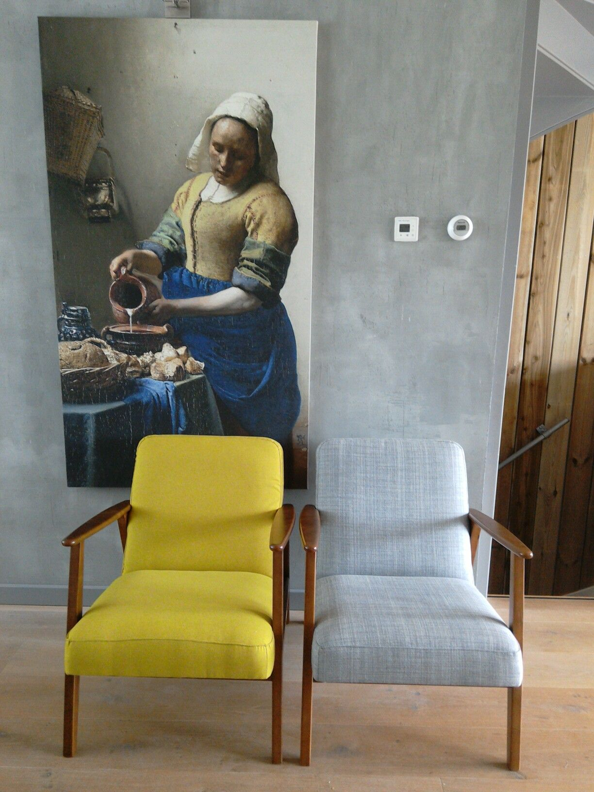 Ikea Hack Chair Ekenaset Upholstered From Grey To Yellow Green