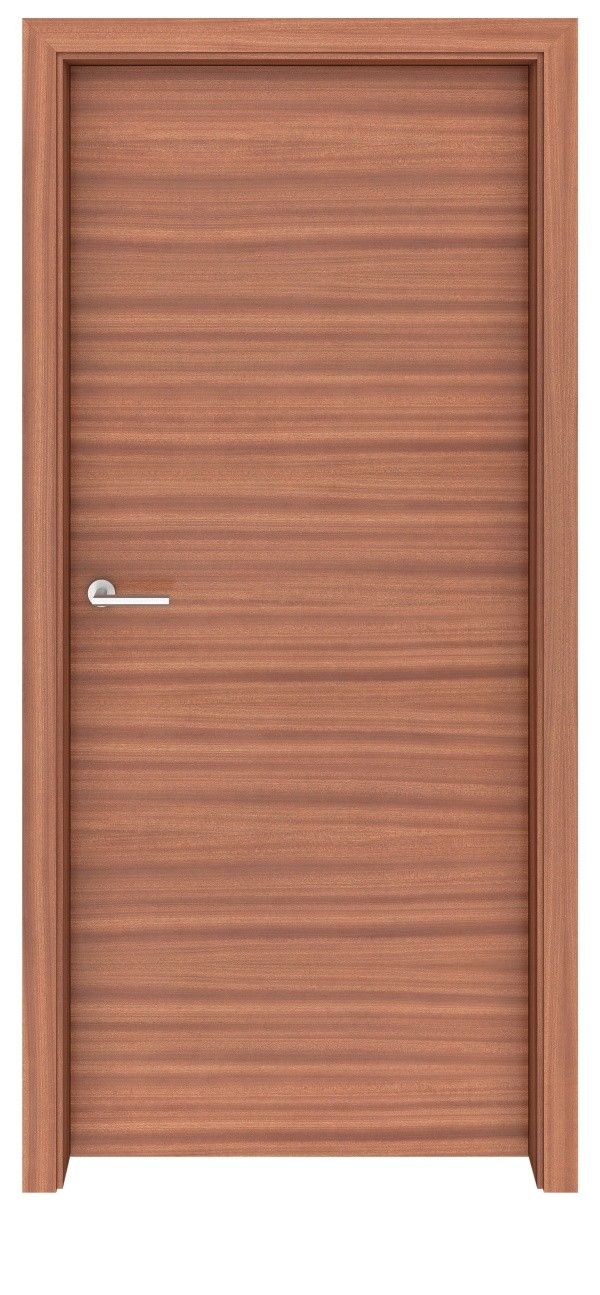 Sapele Mahogany Flush Horizontal Interior Door