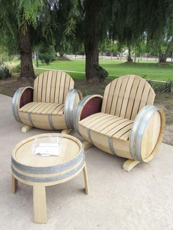 Meuble En Tonneau De Vin 35 bonnes idées pour recycler des tonneaux de vin   idée