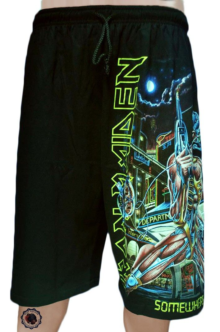 27386bf646049 Iron Maiden Shorts in black - Somewhere in Time | All Types Clothing ...
