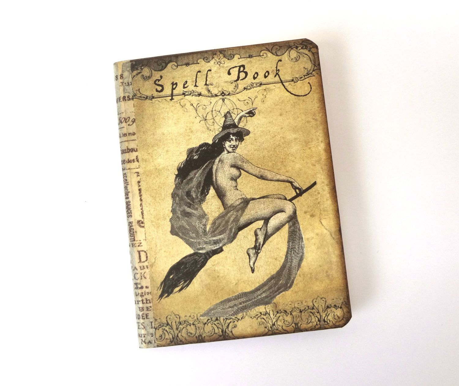 Mini Spell Book, Witch Journal Notebook, Halloween Journal, Witch's Diary,  Wicca Spell