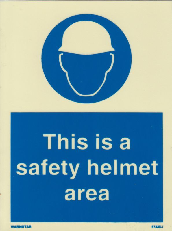 Marine Mandatory Sign This Is A Safety Helmet Area Symbol