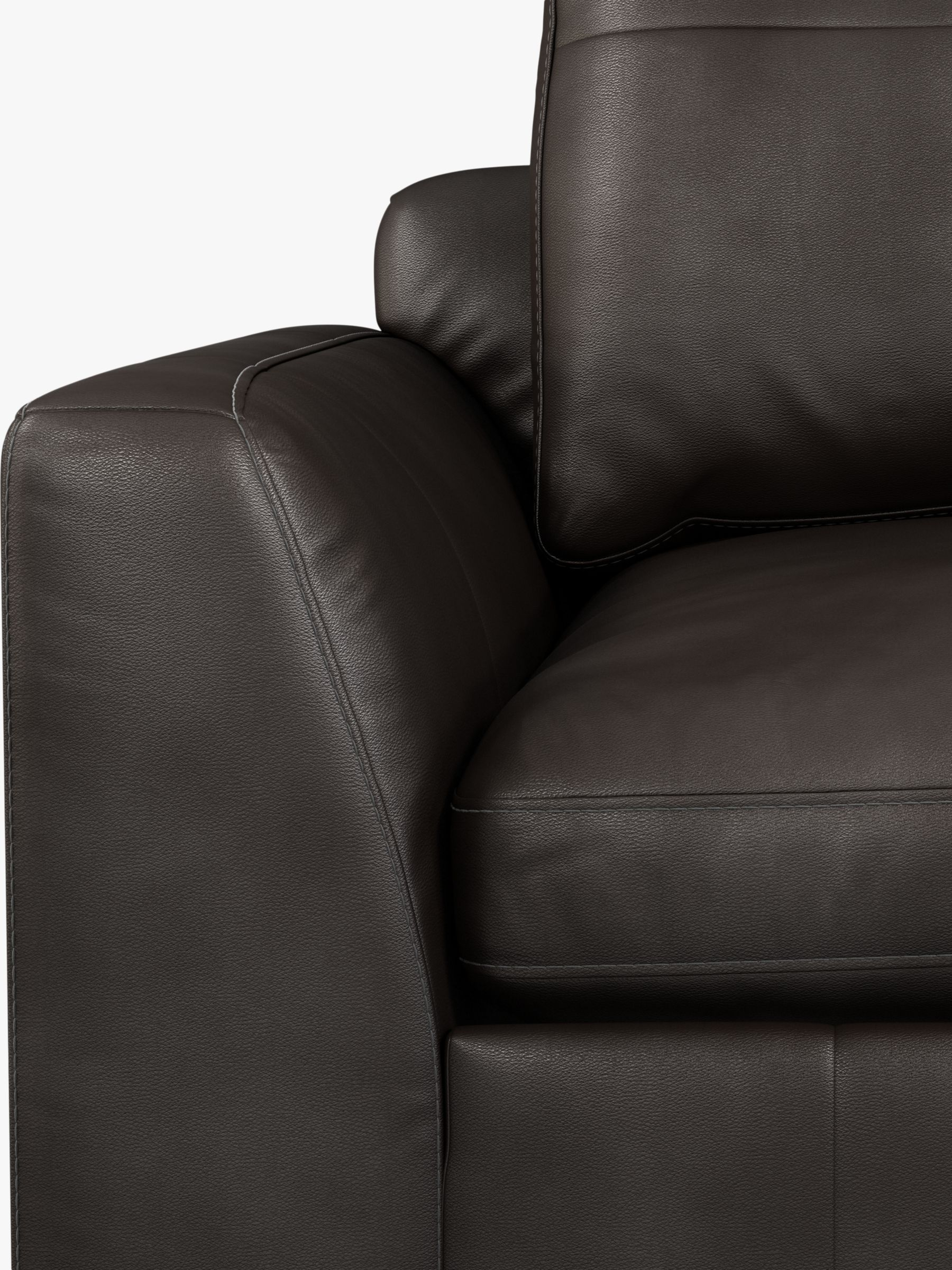 John Lewis Partners Tortona Leather Corner Sofa Dark Leg In 2020 Leather Corner Sofa Leather Sofa Sofa