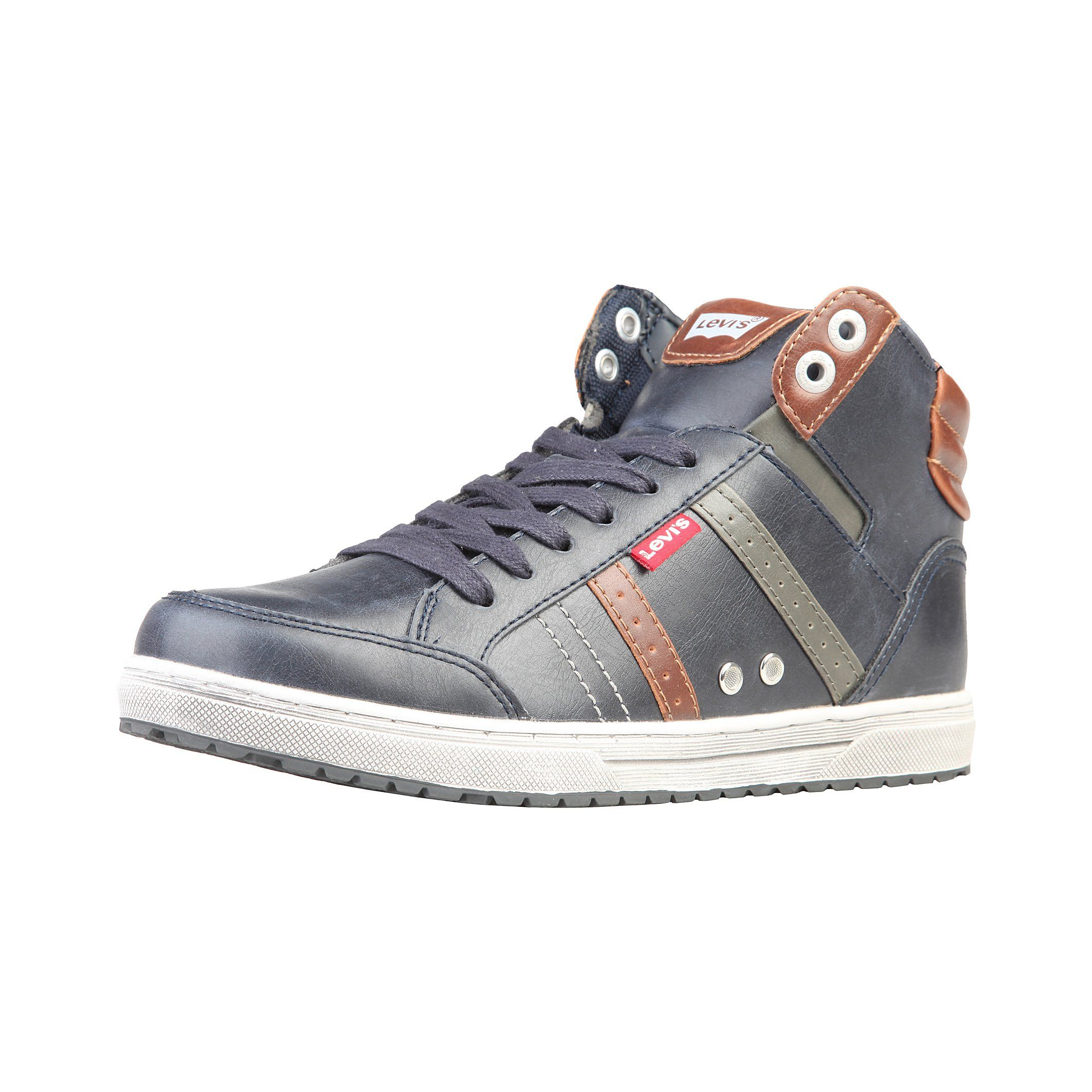 Sam Blue - Levis - Blue and Brown high top Men sneaker