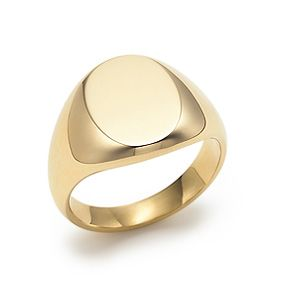 2722b4b02cf0 Oval signet ring in 18k gold. With a monogrammed B please  )