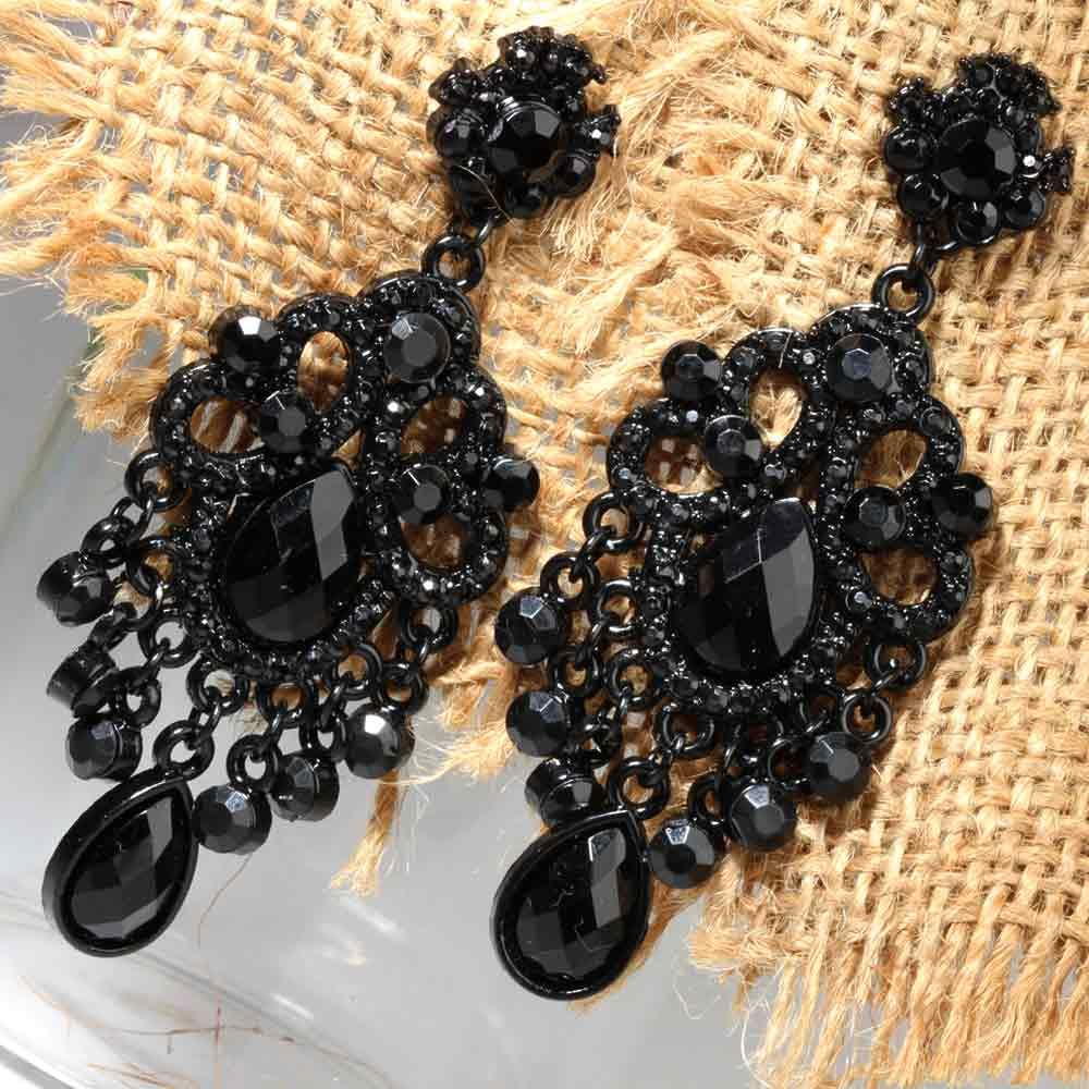 Black chandelier earrings diamonds are foreverr pinterest black chandelier earrings mozeypictures Image collections