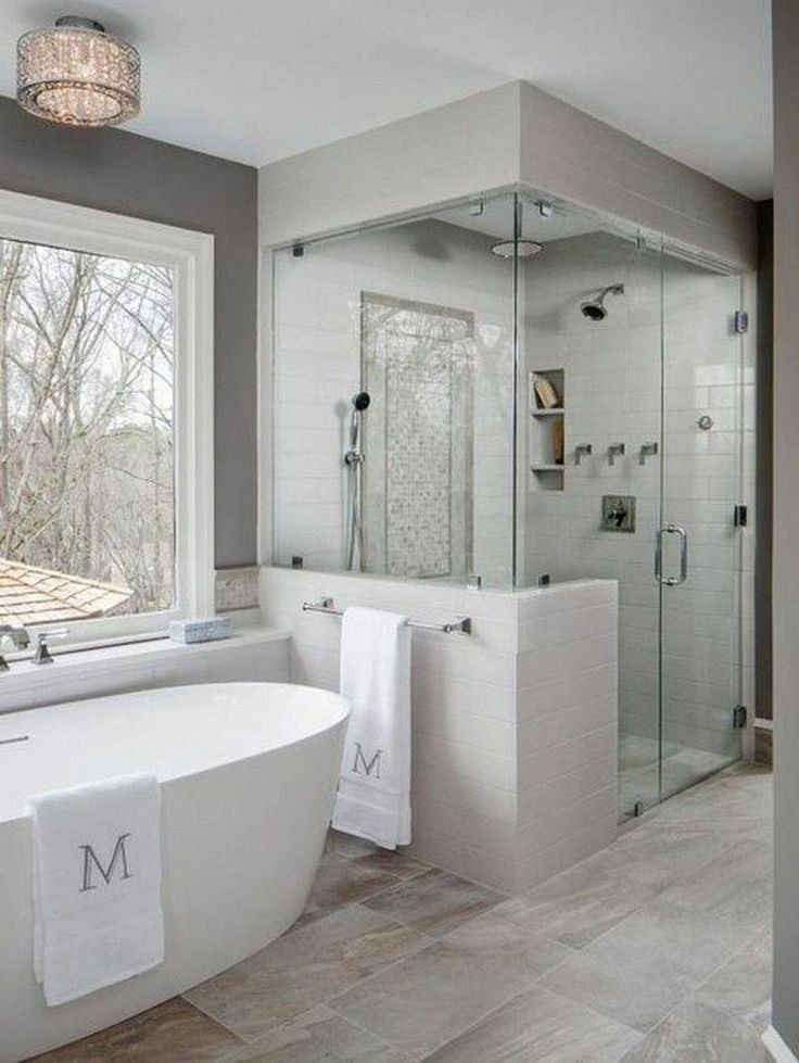 46 Beautiful Master Bathroom Remodel Design Ideas 7 2019 46 Beautiful Master Bathroom Bathroom Remodel Designs Bathroom Remodel Master Master Bathroom Design
