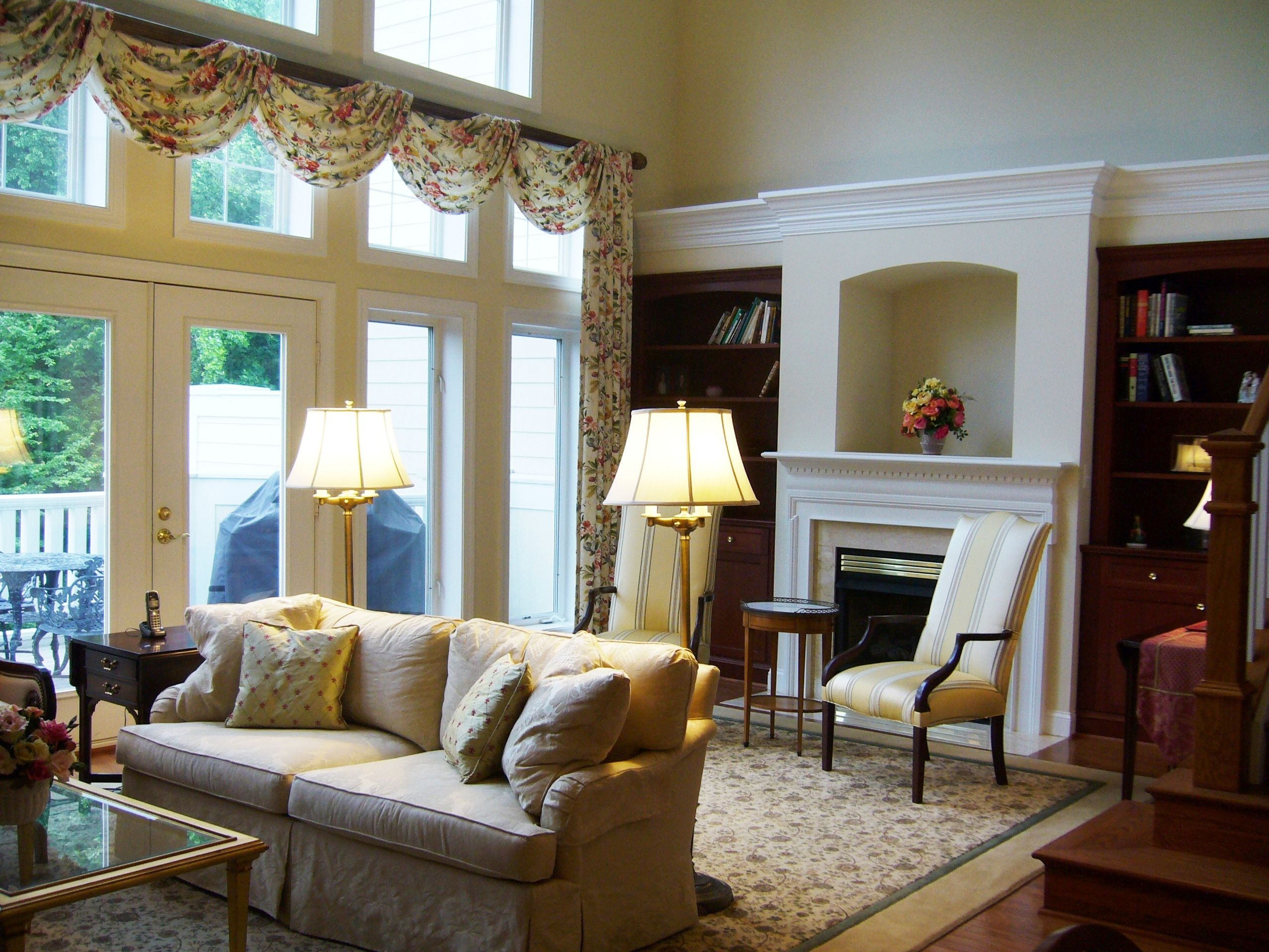 Curtains For Home Library Custom Area Rugs Draperies Coordinated Fro Finished Look