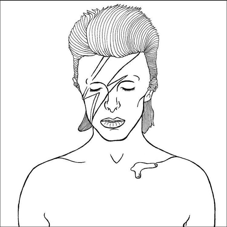 Well Have David Bowie Coloring Pages At Stitch Bitch Tonight 6 8