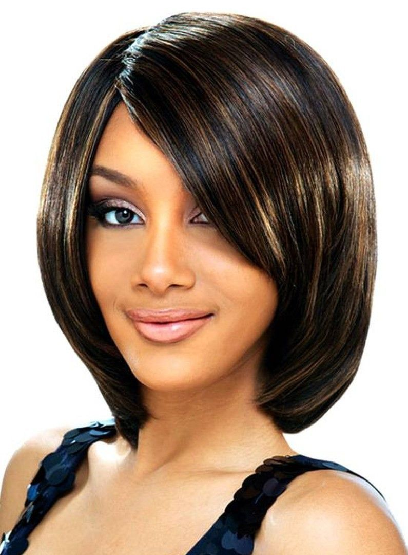 10 inch short straight bob hairstyle synthetic lace front