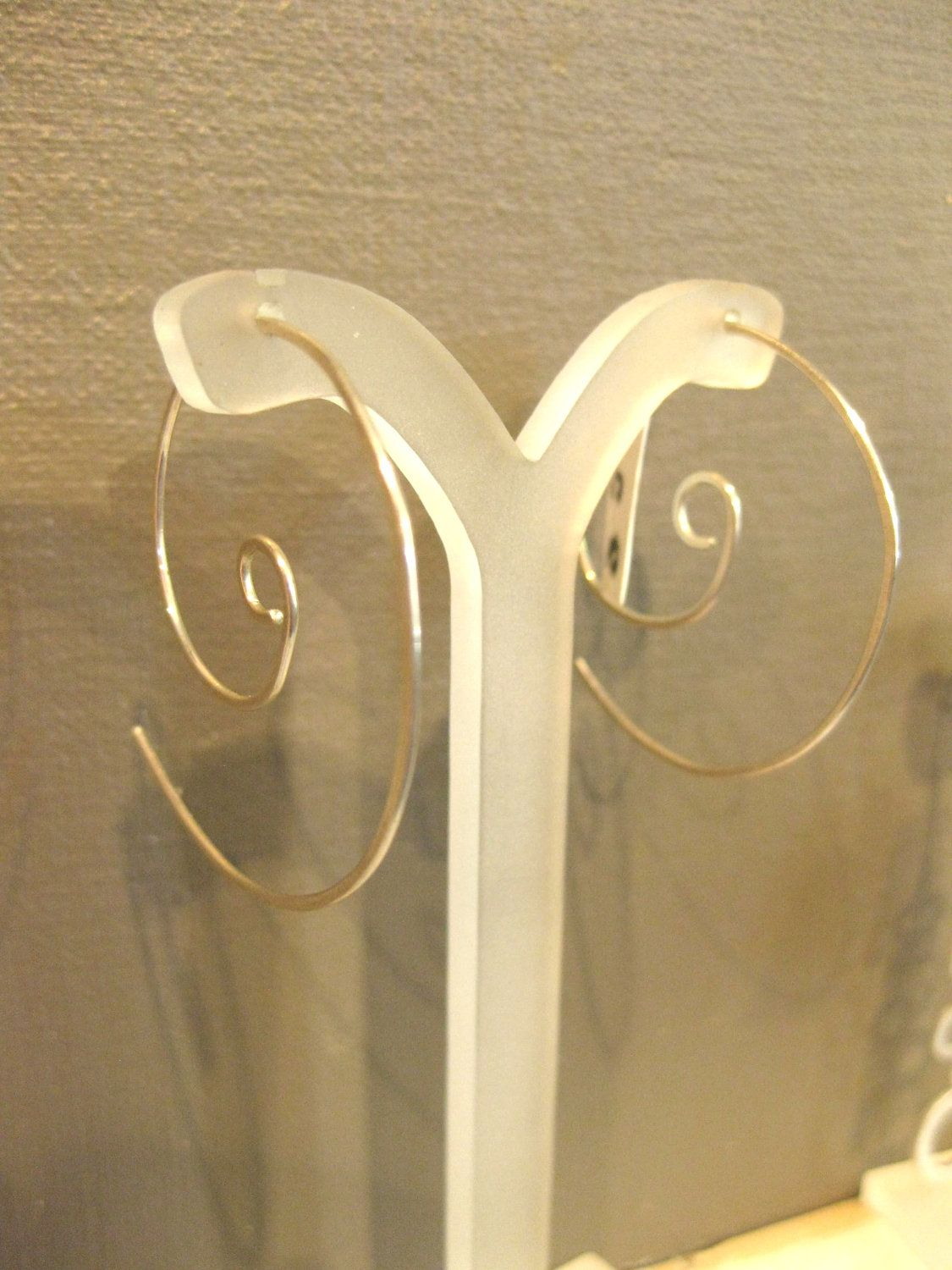 Spiral Circle Sterling Silver Earrings by miostudio on Etsy, $25.00