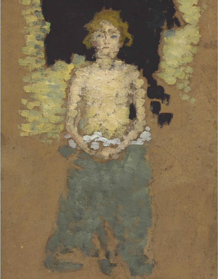 Pierre Bonnard (1867-1947) Jeune femme au torse denude 1892 (26,8 x 22,2 cm)