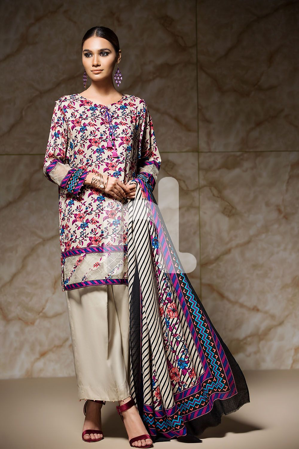 1f819e349f6 Unstitched 3 Piece Pakistani Linen Dress On Sale To Buy Online By Nishat  Linen Winter Collection 2017 At A Discount Price.
