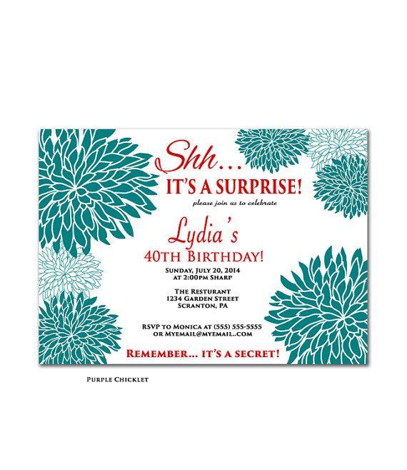 30th Birthday Invitation Silver Glitter Glam Surprise Party Invite - invitation to a party
