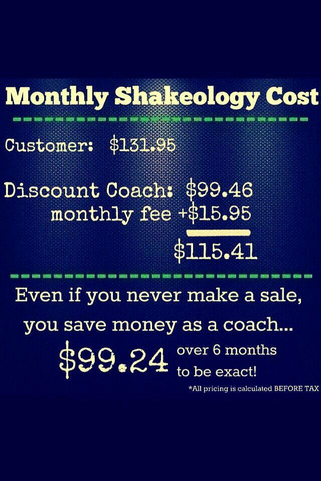 Shakeology Coach Discount | Shakeology cost, Beachbody ...