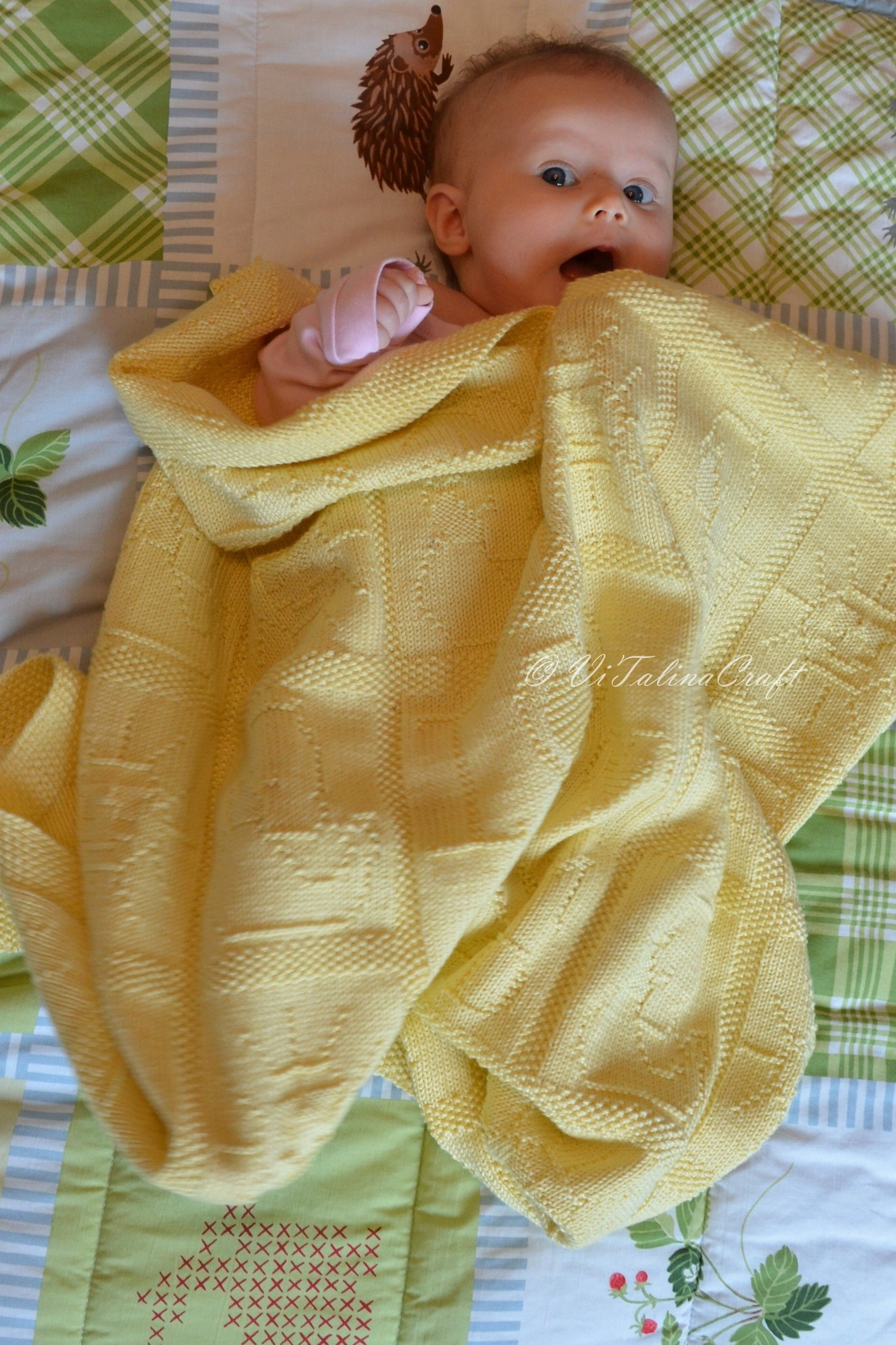 """""""I love mom and dad"""" Baby Blanket knitting project by ..."""